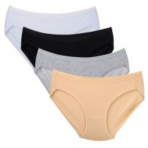 Closecret Women's Comfort Cotton Stretch Bikini Panty(4pcs/lot)