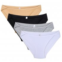 String Bikini,  Womens Soft Cotton Black Low Rise Panties9(4pcs/lot)
