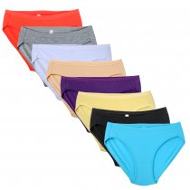Closecret Women 8-Pack Assorted Colors Cotton Bikini Panties