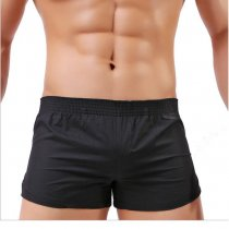 Men's Cotton Trouser Beach Underwear Swimming Trunks Loose Sleep Boxers Shorts