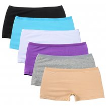 Closecret Lingerie Women's 6 Pack Comfort Soft Boyshorts Stretch Cotton Panties