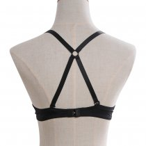 Closecret Women's Fashion Cross Back Bra Straps Non-slip Brassiere Belt(Pack of 3)