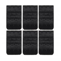 Closecret Women's Nylon Bra Extender,Pack of 6pcs,All Black,Multi-size Optional (6pcs/lot)(3 Hooks 1/2 Inch Spacing )