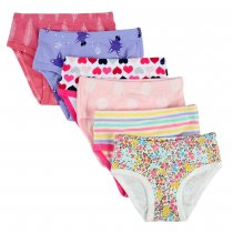 Closecret Little Girls' Assorted Briefs (Pack of 6)
