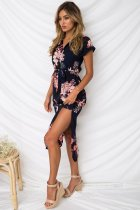 Closecret Navy Pink Floral Print Pencil Dress