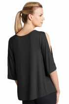 Closecret Black Sexy Split Sleeves Sequined Top
