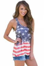 Closecret Stars and Stripes Flag Sleeveless Tank Top