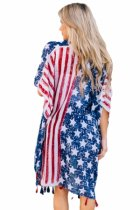 Closecret One Nation Flag Print Beach Wear Kimono Cover up