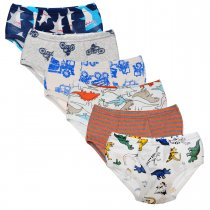 Closecret Kids Series Baby Soft Cotton Underwear Dinosaur Truck Shark Little Boys' Assorted Briefs(Pack of 6)