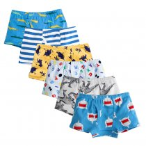 Closecret Kids Series Soft Cotton Toddler Underwear Dinosaur Truck Shark Baby Boys' Assorted Boxer Briefs(Pack of 6)