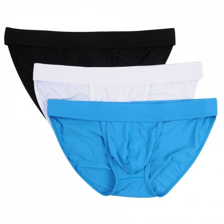 Closecret Men's Low Rise Comfort Briefs Sexy Bikini Underwear (Pack of 3)