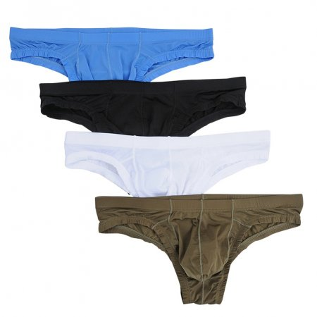 Men's Comfort Bikini Briefs Lightweight Soft Triangle Underwear(4pcs/lot)