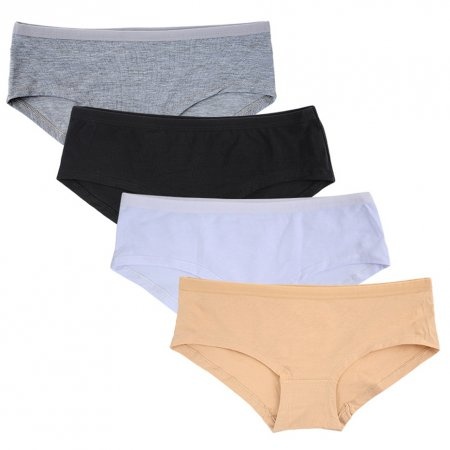 Closecret Lingerie Women's 4 Pack Comfort Soft Boyshort Cotton Panties Underwear
