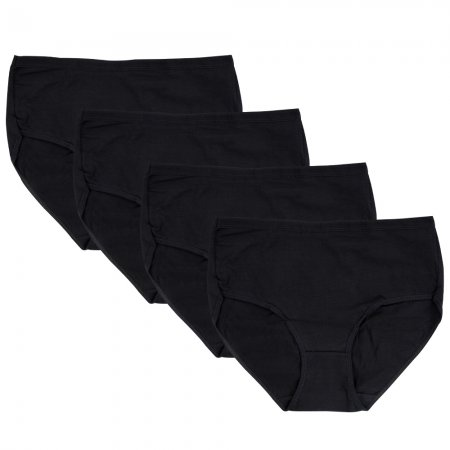 Closecret Women Black Cotton Classic Briefs Panties (Pack of 4)
