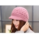 Women Winter Warm Knit Hat Wool Snow Ski Caps With Visor(pack of one)