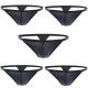 Men's Thongs, Closecret Lightweight Cotton Underwear Pack of 5pcs G-strings