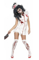 Sexy Zombie Nurse Medical Scrubs Halloween Costume