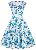 Vintage Flower Skater Dress L36115-1