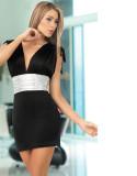V Front Mini Dress