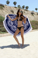 Fashion Round BeachTowel with Fringe 155cm L38352