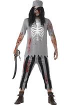 4in1 Zombie Pirate Ghost Pirates Men Costume