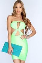 Sexy bodycon dress in green L2144