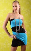 Sleeveless Black and Blue  Dress L2444-4