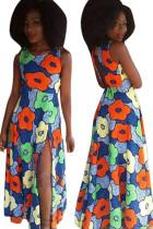 Flower Printed Maxi Dress L51336