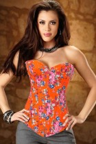 Sexy Flower Corset With G-string L4161