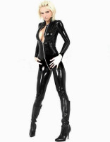 Front Ziper Leather lingerie L6024
