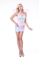 Lovely Pink Butterfly Mini Dress L15201