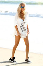 Cheeky Letter Print Summer Cover up L38252