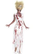 Ladies Zombie Prom Queen Costume L15383