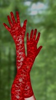Red Lace Gloves TY026-1