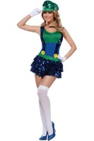Dazzling Green Plumber Costume L15334-2