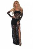 Black Lace Evening Dress L5109-2