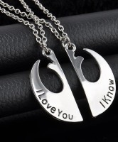 Film Star Wars I Love You I Know Couple Necklace TY071
