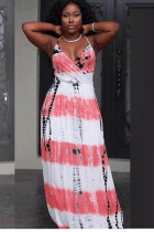 Fashion Ink Printed Slim Maxi Dress L51221-2