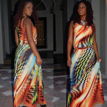 Sexy Fashion Printed Maxi Dress L51223