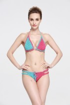 Double Color Handmade Crochet Bikini Swimsuit L32580