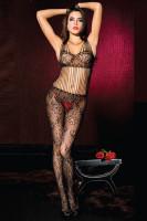 Floral Lace Shredded Bodystocking L92255