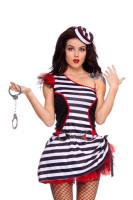 Sexy Womens Jail Prisoner Inmate Halloween Costume L1167
