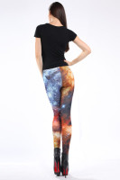 Multicolored Fancy Galaxy Leggings L8721