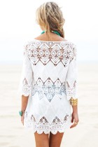 Bohemian Crochet Beach Tunic L38266
