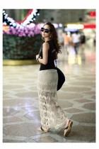 Women Gorgeous Crochet Hollow Lace Dress Stretch High Waist Penc
