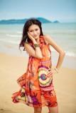 Bohemian chiffon beach dress  L3812