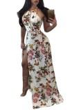 Backless Digital Printing Slim Maxi Dress L51396
