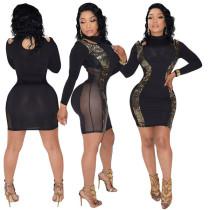 Long Sleeves Fashion Bodycon Dresses L28155