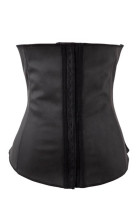 100% Latex Black Steel Boned Corset L42634