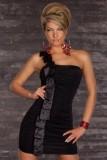 Sexy One Shoulder Mini Dress  L2590-1